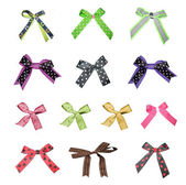 Big set of colorful gift bows — Stock Photo