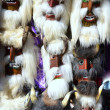 Mummers masks of market in Romania 2013 — Stock Photo