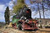 Vintage old locomotive station, Bulgaria — Stock Photo