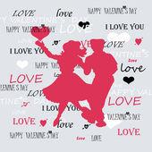 Grey background two dancing lovers — Stock fotografie