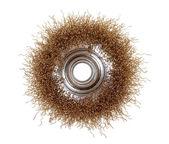 Rotating metal brush — Stock Photo