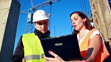 Construction team — Stock Video