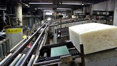 Synthetic rubber production line — Stock Video