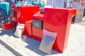 Hot water boiler — Stock Photo