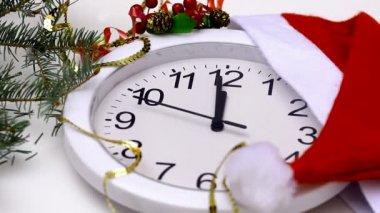 New Year clock — Stock Video