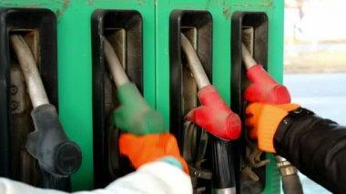 Gas Pump Nozzles — Stock Video
