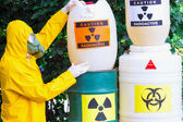 Work with hazardous materials — Stock Photo