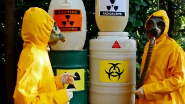 Work with hazardous materials — Stock Video