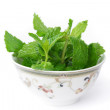 Mints in Bowl — Stock Photo