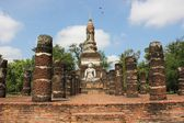 Ruins In Historical Park Of Sukhothai — Stock Photo