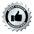Best choice guaranteed label — Stock Vector #11495526