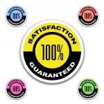 Satisfaction guaranteed stickers — Stock Vector #11496761
