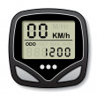 Stock Vector: Bicycle speedometer computer