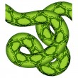 Green snake seamless - Stock Vector