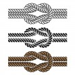 Black rope knot symbols - Stok Vektr