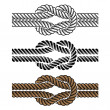 Black rope knot symbols - Stock Vector