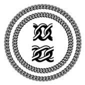 Zincir mücevher sorunsuz silhouettes — Stok Vektör