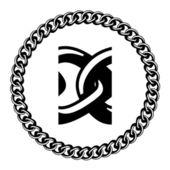 Zincir mücevher siluet — Stok Vektör