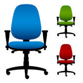 Office chairs — Stock Vector