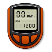 Bicycle speedometer computer — Stock Vector