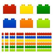 儿童玩具塑料砖 — 图库矢量图片