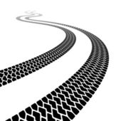 Winding trace of the terrain tyres — 图库矢量图片