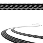 Winding trace of the terrain tyres — Wektor stockowy