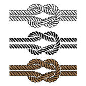 Black rope knot symbols — Stock Vector