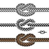 Siyah ipe düğüm sembolleri — Stok Vektör