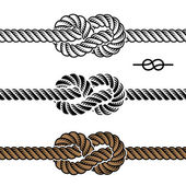黑色绳子结符号 — 图库矢量图片