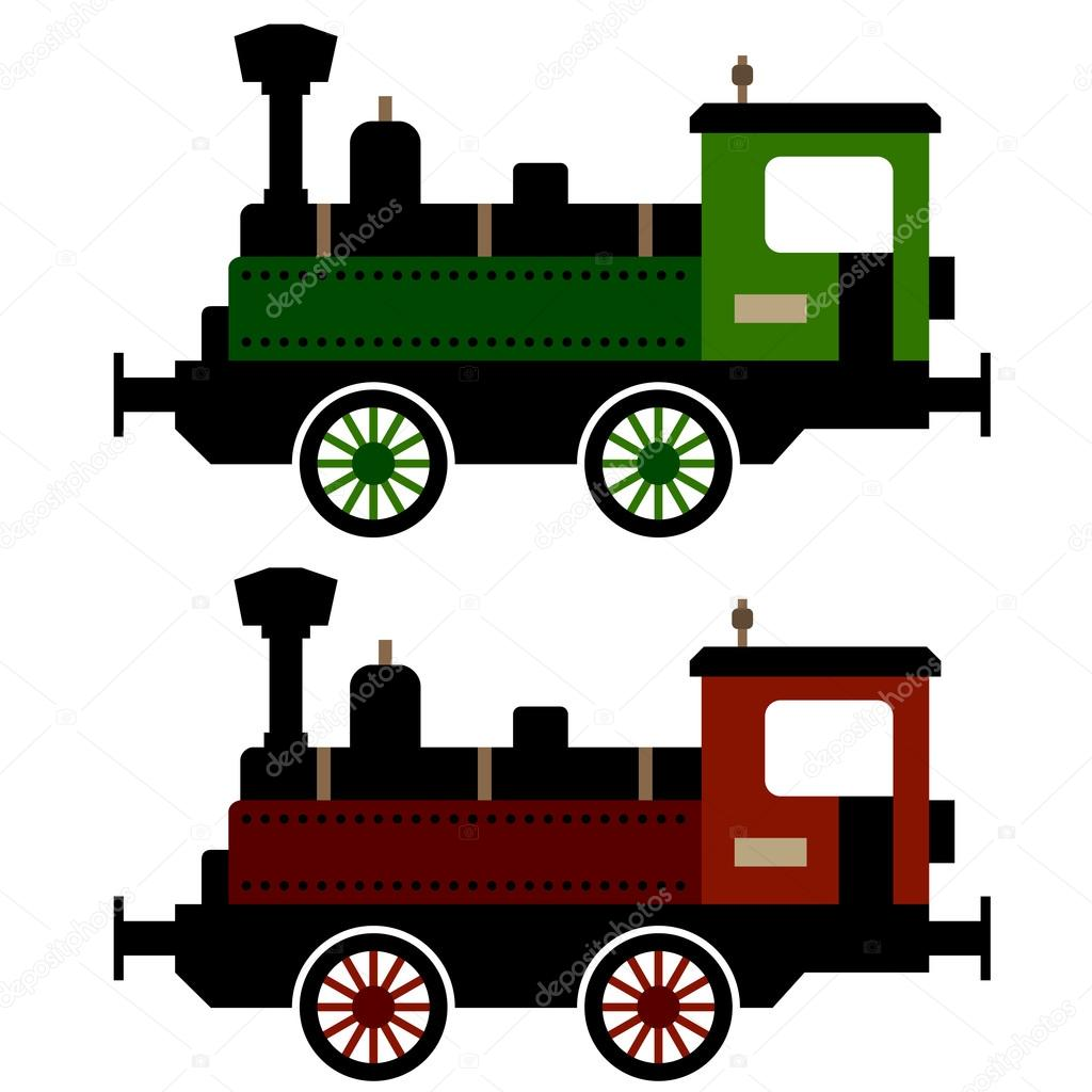 Steam train locomotive — Stock Vector © happyroman #12333226