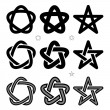 Medieval Occult signs — Stock Vector