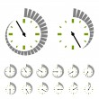 Round timer symbols — Stock Vector #14240361