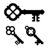 Medieval key symbols — Stock Vector