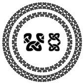 Seamless ornamental knot frames — Stock Vector