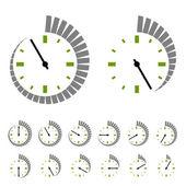 Ronda de símbolos del contador de tiempo — Vector de stock