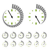 Round timer symbols — Stock Vector