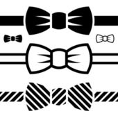 Symboles de noeud papillon noir — Vecteur
