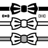 Bow tie black symbols — Stock Vector
