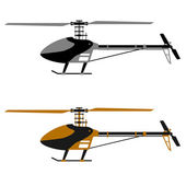 Helicopter rc model icons — Stock Vector
