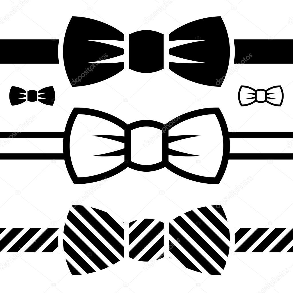 Bowtie Vector Bow tie black symbols