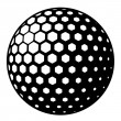Golf ball symbol — Stock Vector