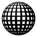 Globe black symbol — Stock Vector #19629595