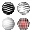 Golf ball symbols — Stockvektor