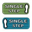 Stock Vector: Imprint single step labels
