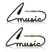 Jack connectors music calligraphy — Stock Vector