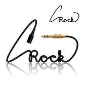 Jack connectors rock calligraphy — Stock Vector