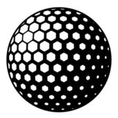 Golf ball symbol — Wektor stockowy