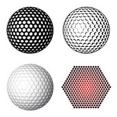 Golf topu sembolleri — Stok Vektör