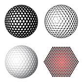 Símbolos de bola de golfe — Vetor de Stock